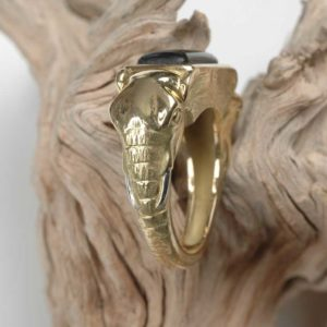 Chevaliere Elephant  - Création Le Caroubier Bijoutier Joaillier Tours