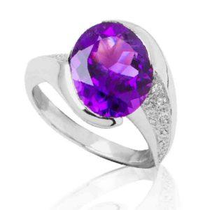 1Bague Le Caroubier Amethyste Diamant