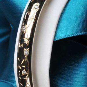 Bracelet Or et Diamants  - Création Le Caroubier Bijoutier Joaillier Tours