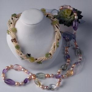 Collier de Perles Fantaisie  - Création Le Caroubier Bijoutier Joaillier Tours