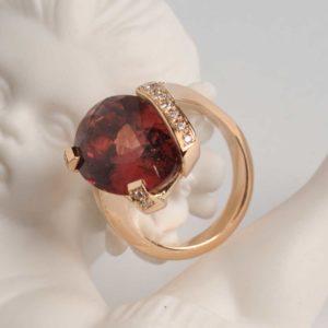 Creation Bague Or Rose et Diamants  - Création Le Caroubier Bijoutier Joaillier Tours