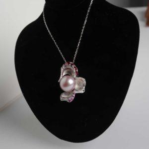 pendentif Perle D'eau Douce Saphir Rubis Le Caroubier Joaillier Tours 37
