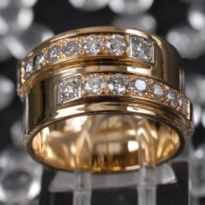 Bague Diamants - Création Le Caroubier Bijoutier Joaillier Tours